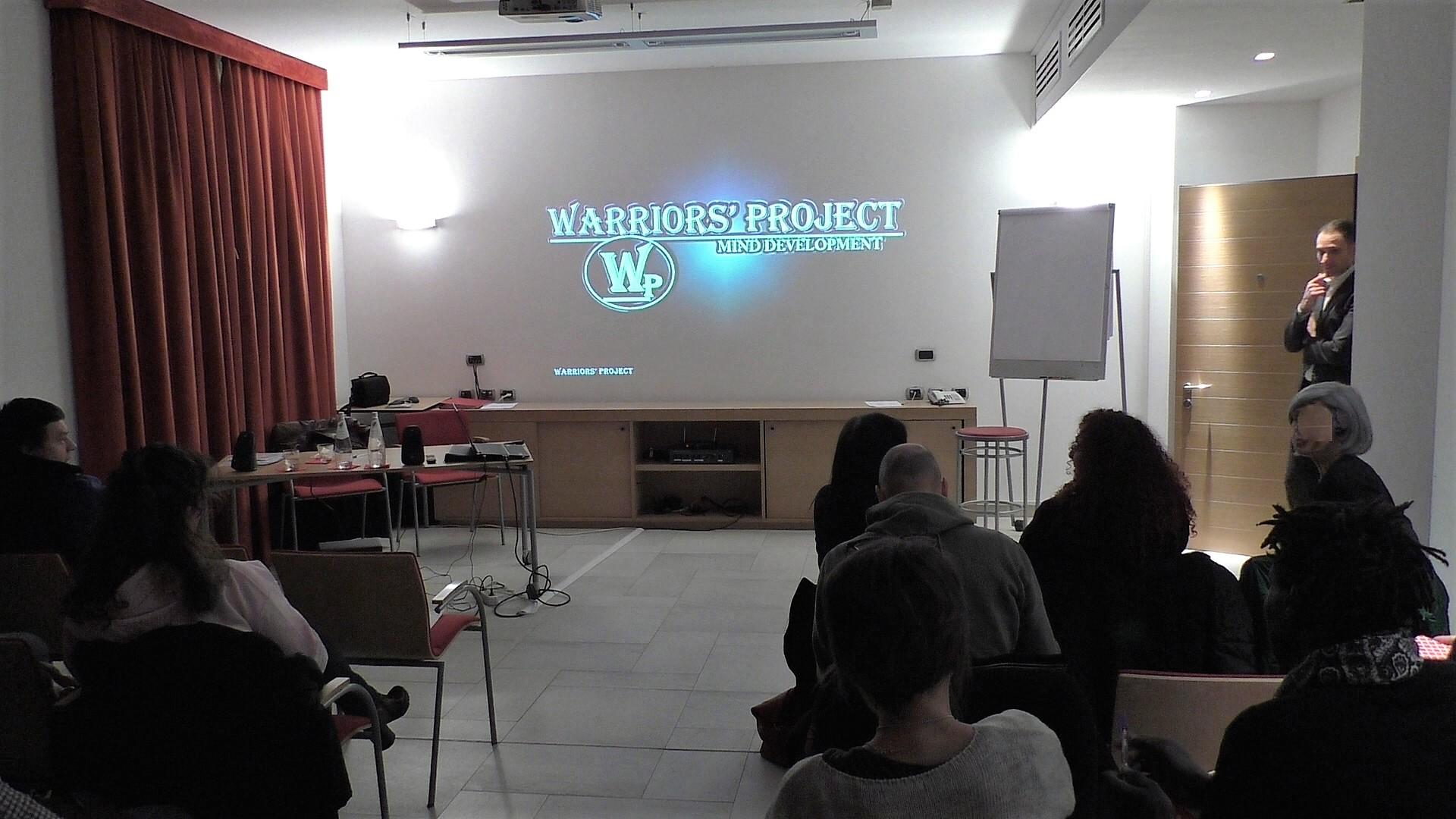 Corso di formazione warriors' project reggio emilia su strategie obiettivi mentalità vincenti vincenzo cento