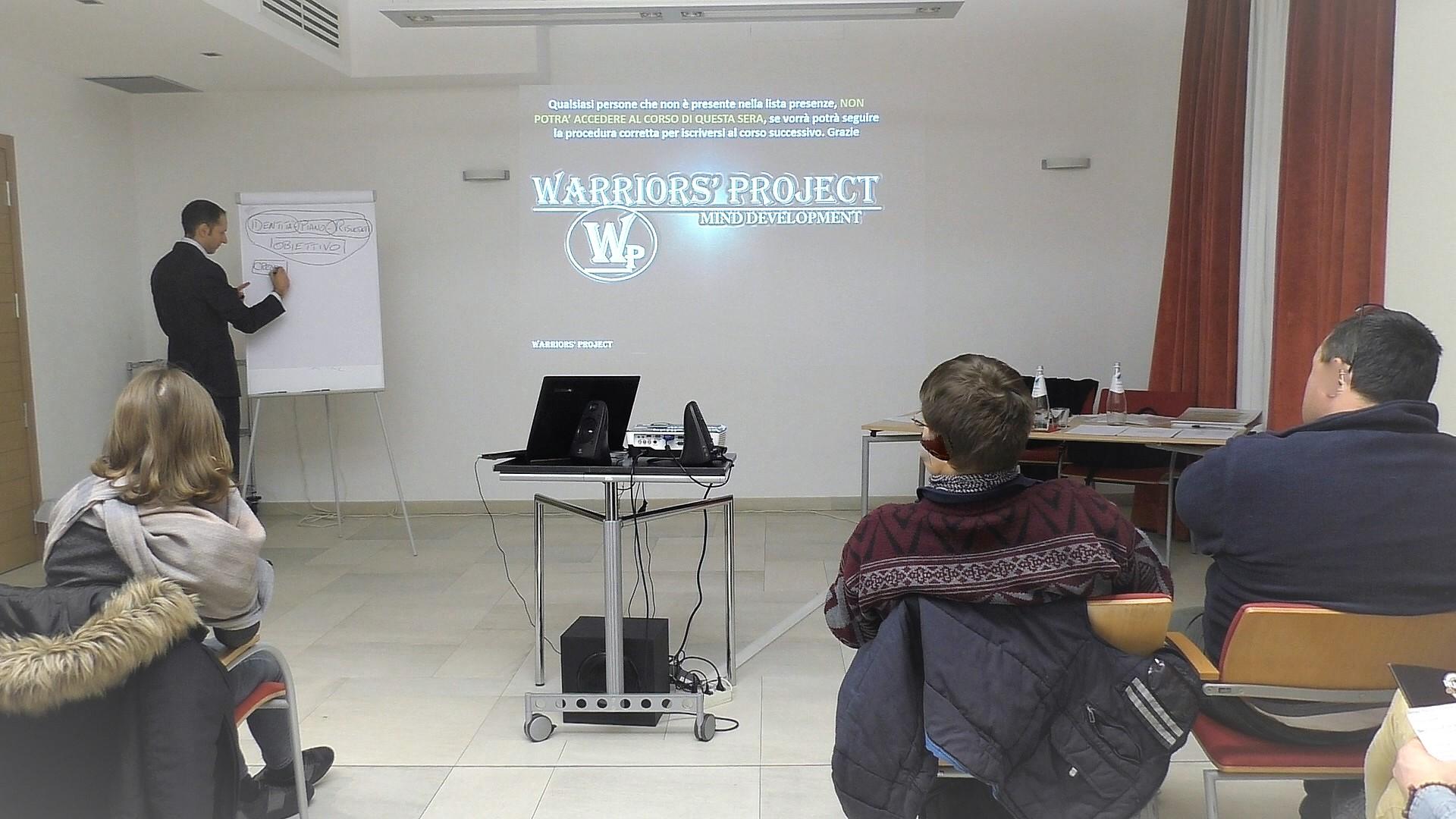 corso di formazione parma warriors project leadership emozioni superare limiti comunicazione ansia stess migliorare obiettivi strategia successo vincenzo cento 1 reggio emilia