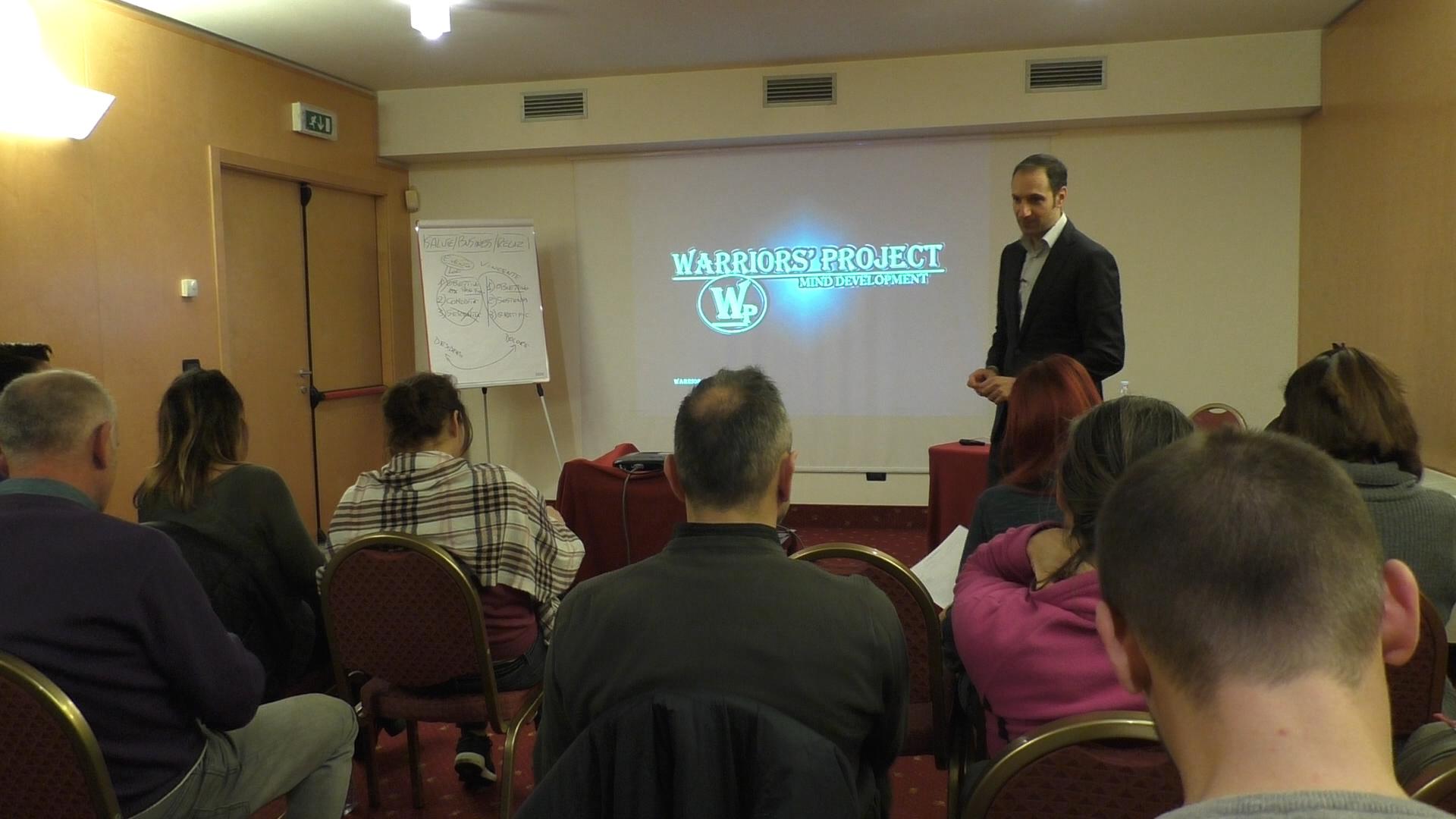 Corso di formazione Bologna raggiungere gli obiettivi leadership warriors project vincenzo cento
