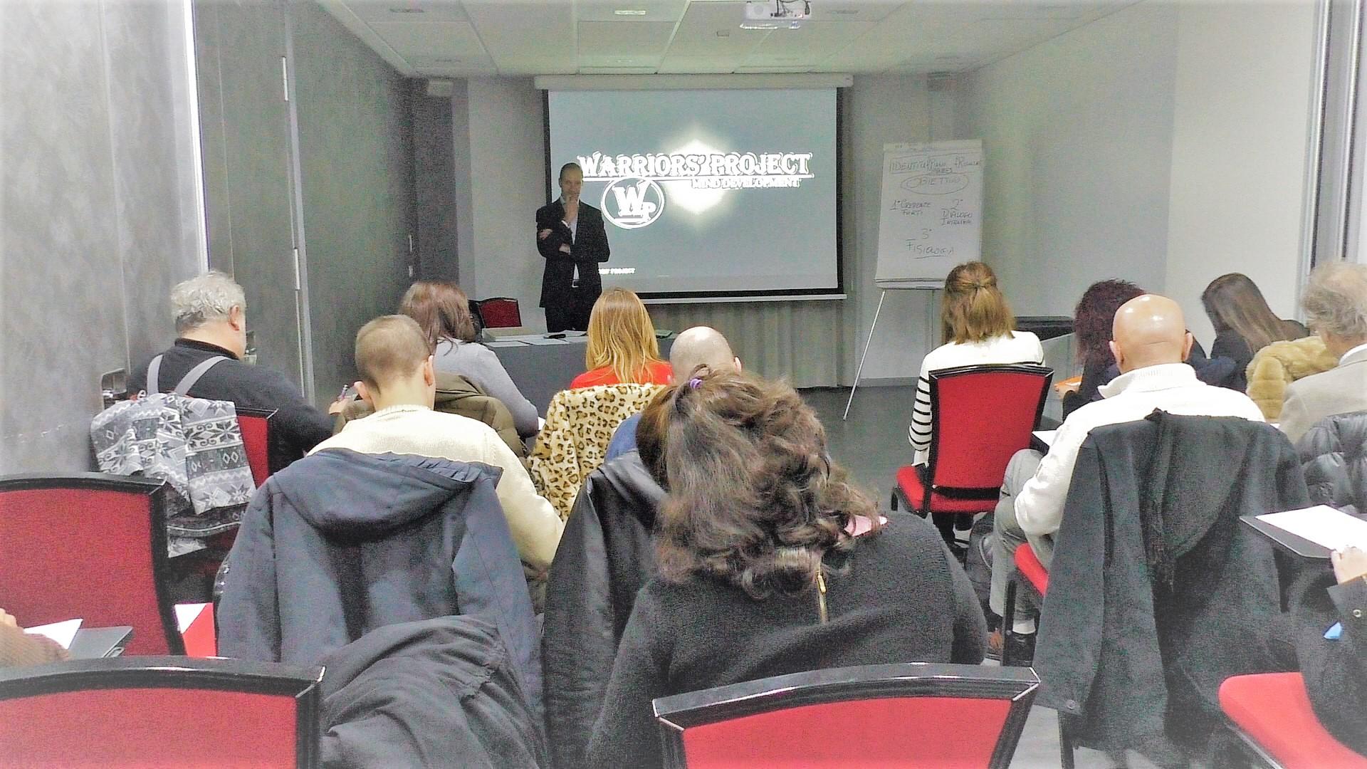 corso di formazione parma warriors project leadership emozioni superare limiti comunicazione ansia stess migliorare obiettivi strategia successo vincenzo cento parma