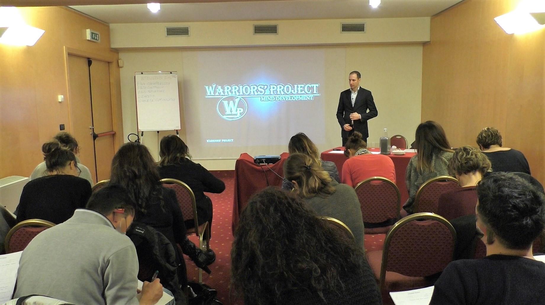 corso di formazione bologna warriors project vincenzo cento superare i limiti gestire stress ansia autostima comunicazione raggiungere obiettivi strategia successo
