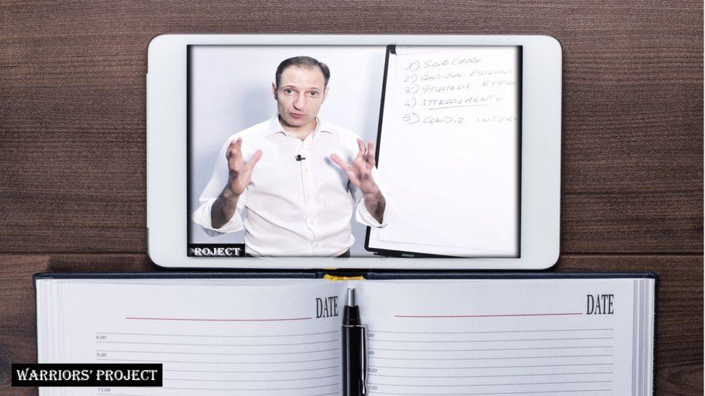 Video Corso Streaming online crescita parsonale relazioni business professione leadership comunicazione intelligenza emotiva personalità vincente obiettivi strategie